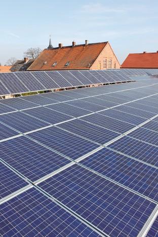 Solaranlage auf dem Rinderstall